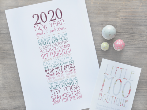 Personalised Resolutions Print