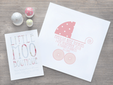 Personalised Baby Buggy Print-Little Moo Boutique