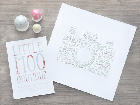 Personalised Camera Word Art Print-Little Moo Boutique