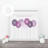 Personalised Christening Balloons Print-Little Moo Boutique