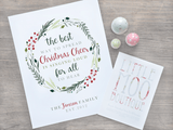 Personalised Christmas Cheer Print-Little Moo Boutique
