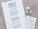 Personalised Family Promises Print-Little Moo Boutique