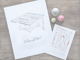 Personalised Graduation Word Art Print-Little Moo Boutique