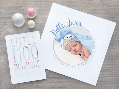 Personalised Hello Baby Image Print-Little Moo Boutique