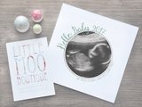 Personalised Hello Baby Scan Image Print-Little Moo Boutique