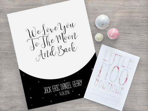 Personalised Moon and Back Print-Little Moo Boutique
