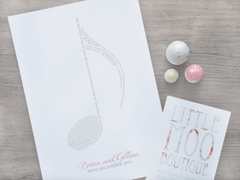 Personalised Musical Note Print-Little Moo Boutique