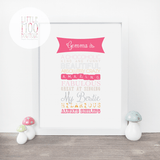 Personalised [Name] is... Print-Little Moo Boutique
