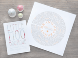 Personalised Record Word Art Print-Little Moo Boutique