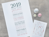 Personalised Resolutions Print-Little Moo Boutique
