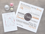 Personalised Square Dad Memories Print-Little Moo Boutique