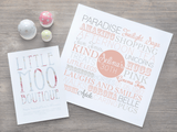 Personalised Square Memories Print-Little Moo Boutique