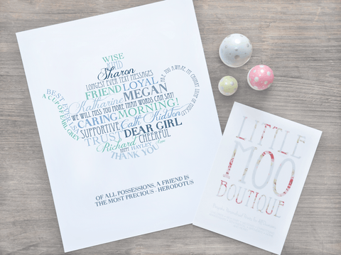 Personalised Teapot Word Art Print-Little Moo Boutique