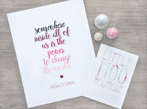 Roald Dahl 'Matilda' Print-Little Moo Boutique
