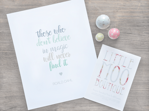 Roald Dahl 'The Minpins' Print-Little Moo Boutique