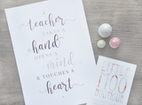 Teacher Quote Print-Little Moo Boutique