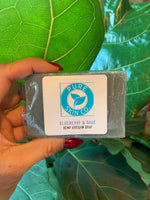 Pure Skin Co. Artisan Hemp Soap, Blueberry Sage