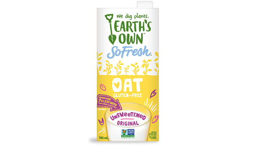 Earth's Own  Unsweetened Oat Milk 946ml