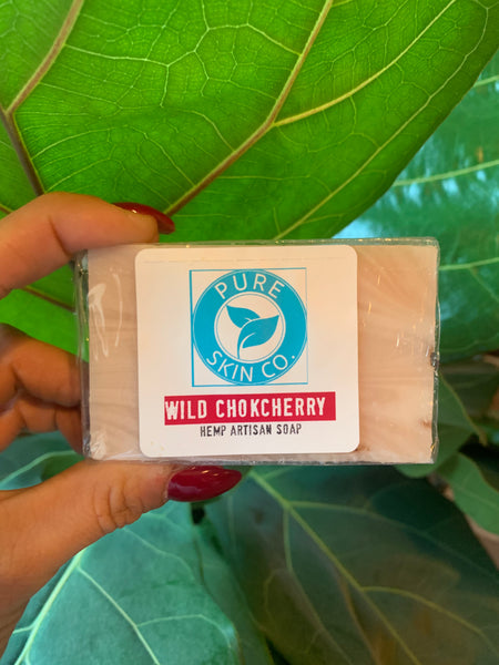 Pure Skin Co. Artisan Hemp Soap, Wild Chokecherry