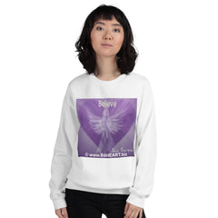 Sweatshirt --- BELIEVE / B4HEART--- Humanity Envisioned And Realized Together!