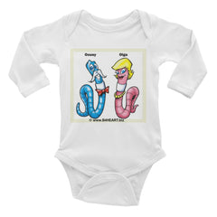 Infant Long Sleeve Bodysuit The LOVE Worms