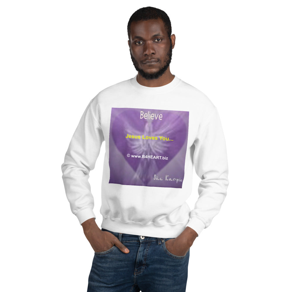 Sweatshirt --- Jesus Loves You...