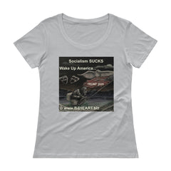 Ladies' Scoopneck T-Shirt Socialism SUCKS