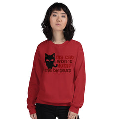 Sweatshirt --- 'My Cat Won't Dump Me by TEXT'