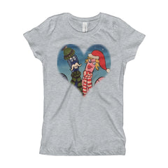 Girl's Oouey & Olga HEART T-Shirt