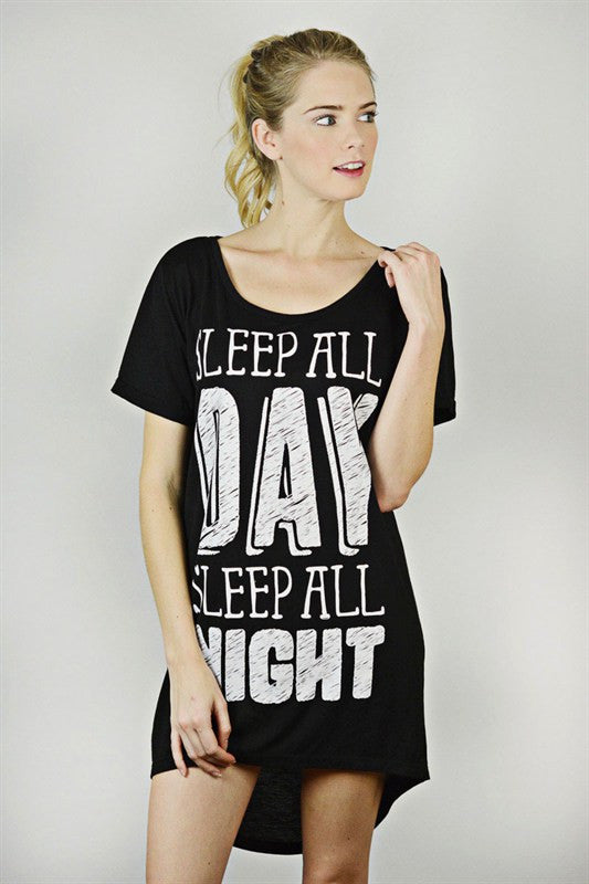 Sleep All Day, Sleep All Night Nightgown