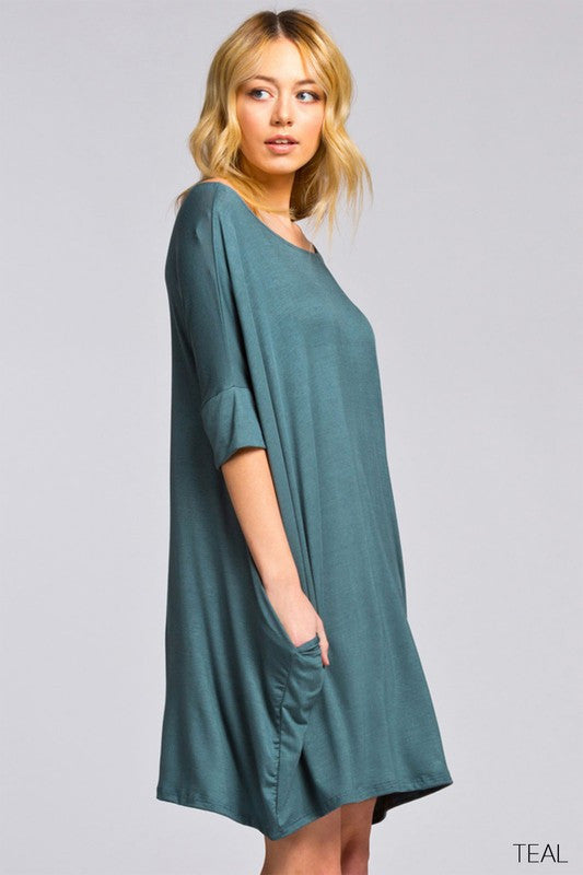 Which Way To Paradise Dress Teal