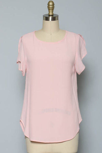 Keep it Classy Blouse-Blush