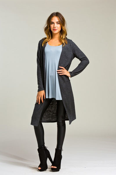 Charcoal Duster Cardigan