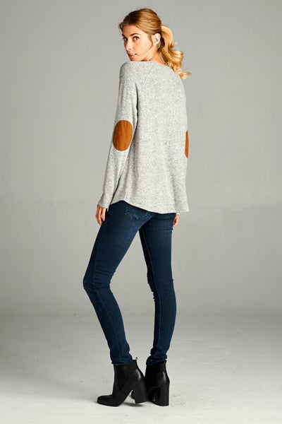 The Softest Ever Elbow Patch Top
