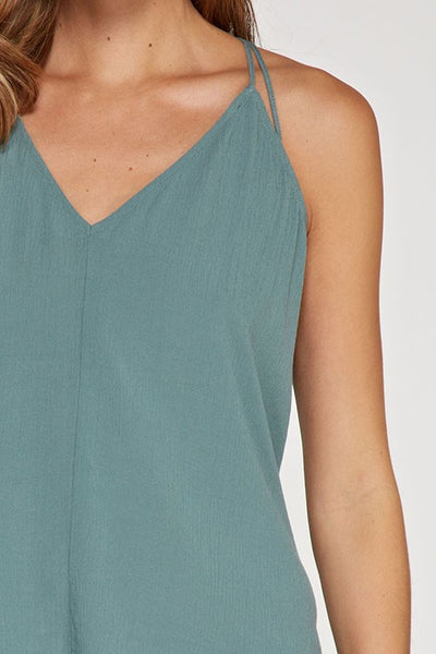 Lovestitch Dusty Seafoam Tank Top