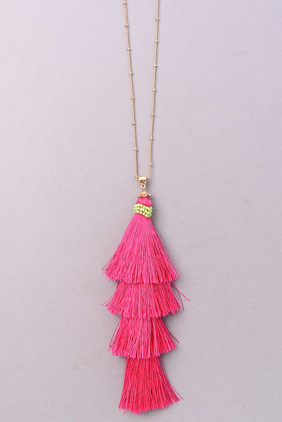 Sadie Necklace-Fuschia