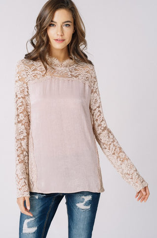 Blushing Lace Top