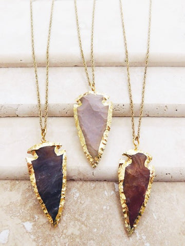 Lacey Arrowhead Necklace- 3 colors