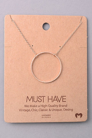 Rose Gold Circular Necklace