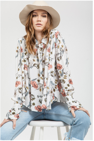 *Pre-Order* Fall Floral Blouse