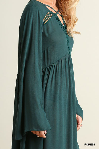 Date Night Dress- Forest