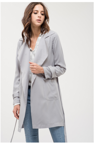 *Pre-Order* Grey Trench Cardigan