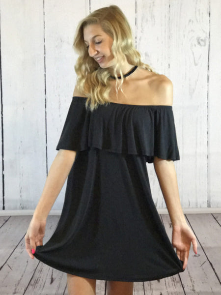 Off The Shoulder Little Black Dress