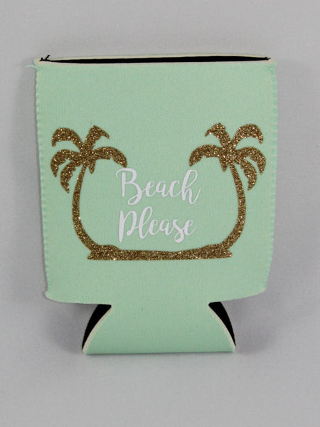 Beach Please Palm Koozie (Choose Your Color)