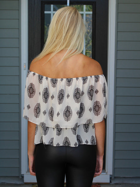Printed Off The Shoulder Blouse