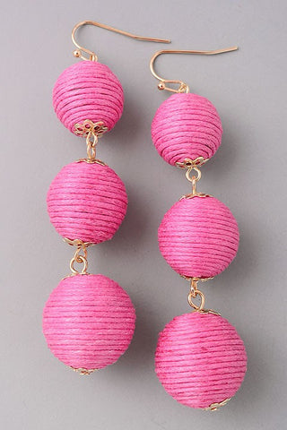 Bon Bon Earrings-Fuschia