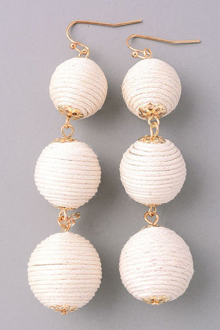 Bon Bon Earrings-Ivory