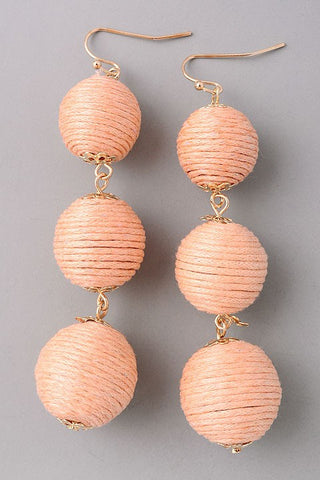 Bon Bon Earrings-Peach