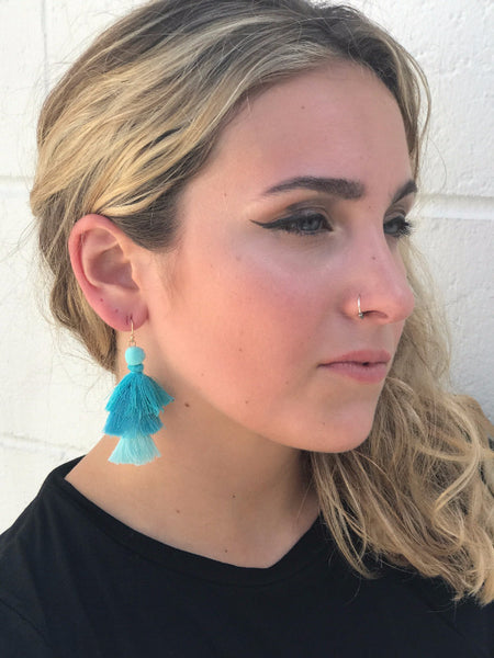 Waterfall Earrings-Turqouise