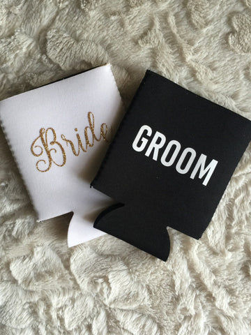 Bride/Groom Koozie Set